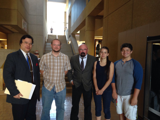 Attorney Richard Lee, Vitaliy, attorney Dave Stevens, Lena, Sergey